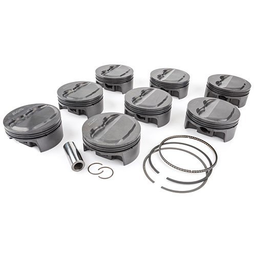 """Mahle 350 Chevy Dome Top Forged 6"""" Rod 13:1 Pistons"""