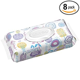 Huggies One and Done Fragrance Free Baby Wipes, 56 Count (Pack of 8), 448 Total Wipes