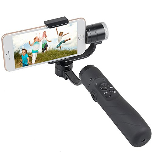 V3 Portable 3-Axis Gimbal Stabilizer for 3.5~6.1 Inches Cellphone - Black by OLSUS