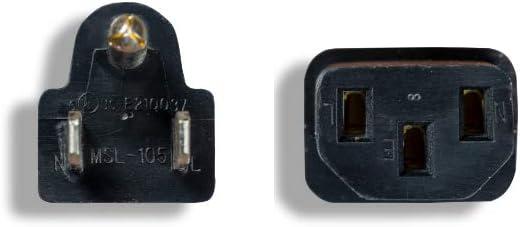 ZWACPCA1-25 Cablelera North American Standard Power Cord 10A 125V NEMA5-15P to IEC320 C13 18AWG