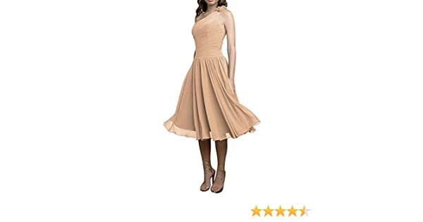 Sunvary Laceshe Womens Special Swing Chiffon Waist Tea Length Bridesmaid Prom Dresses Holiday Gowns