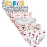 Baby Soft Cotton Panties Little Girls'Briefs Toddler Underwear (Pack of 6) 6-7y
