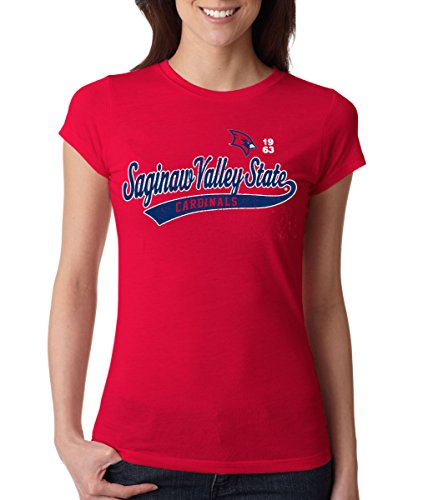 J2 Sport Saginaw Valley State Cardinals NCAA Old School Sport Tail Junior T-Shirt