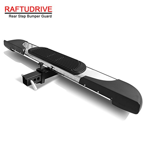 RAFTUDRIVE 6″ Universal stainless steel Hitch Step Rear Step Guard For vehicles with 2″ Receiver
