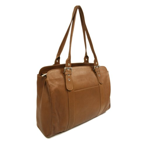 piel-leather-ladies-buckle-laptop-tote-saddle-one-size