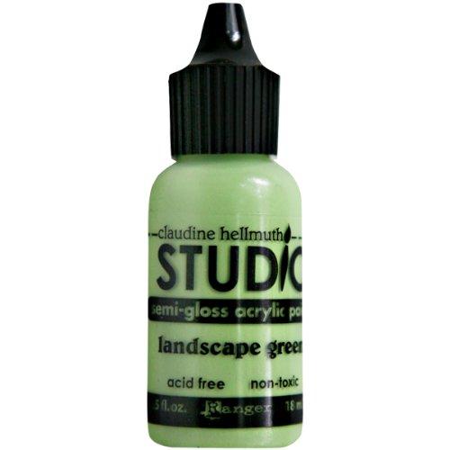 Ranger Claudine Hellmuth Studio Line Mini Paints .05 Ounces-Landscape Green ()