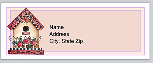 (120 Personalized Address labels Primitive country Birdhouse (P 144))