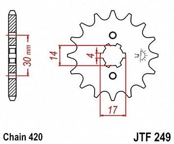 JT Sprockets JTF249.13 13T Steel Front Sprocket