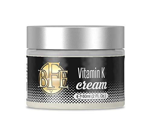 Vitamin K Cream- Moisturizing Bruise Healing Formula. Dark Spot Corrector for Bruising, Spider Veins & Broken Capillaries. Reduces Under Eye Dark Circles, Fine Lines, Puffiness, & Wrinkles.