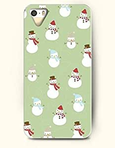 OOFIT Phone Case design with Small Little Cute Snowman for Apple iphone 5 5s 5g