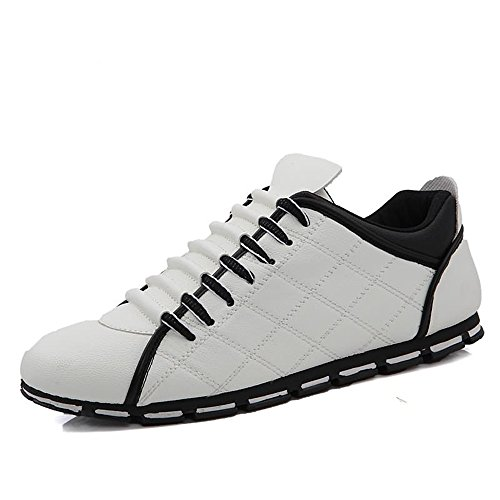 Sneaker UP Scarpe Bianca Leisure Super Scarpe Ginnastica Lace da Heel da Cricket da Uomo Flat Sports Light qO7nzAaw4O