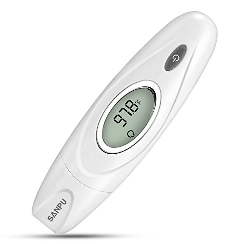 SANPU Ear and Forehead Thermometer Accurate Measurement Temperature,Used for Anybody, for Baby, for Children and for Adults