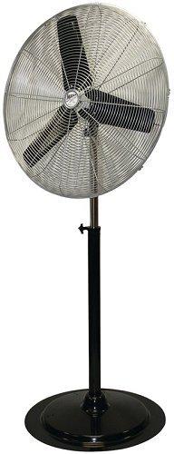MaxxAir HVPF HVPF30 30-Inch OSC Heavy Duty Oscillating Pedestal 3-Speed Fan, Black (Contemporary Fans Floor)
