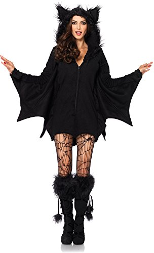 (Forum Novelties Women's Hoodie Bat Costume, Black, Standard)