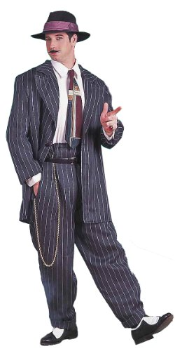 Forum Roaring 20's Costume Zoot Suit, Black, One Size for $<!--$49.99-->