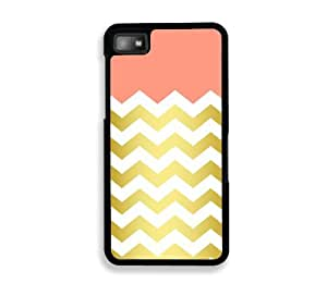 amazoncom gold chevron blackberry z10 case for