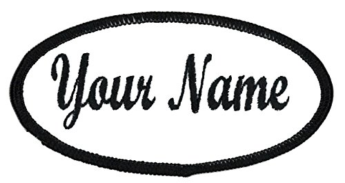 OVAL Name patch Uniform or work shirt personalized Identification tape Embroidered: 2