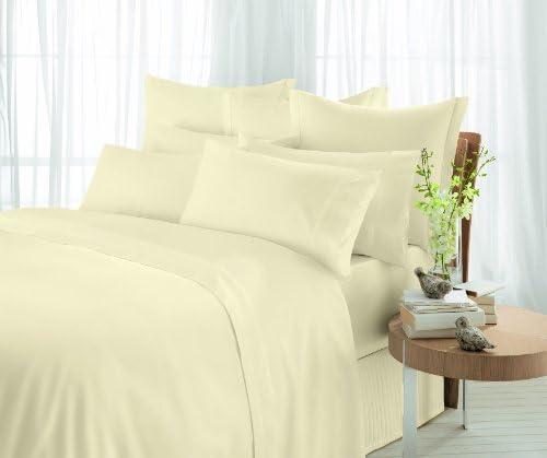 Sheridan Essentials Tour de lit en Coton égyptien satiné 600 Fils/cm² Vanille 1 Personne 91 x 190 x 43cm
