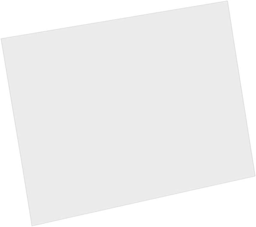 Placa de rasguño en blanco Pickguard Material para guitarras acústicas DIY Custom PVC transparente 1PCS