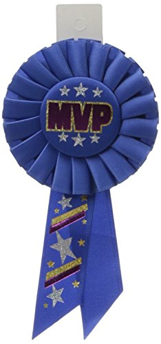 - Beistle RS188 MVP Rosette, 31/4-Inch by 61/2-Inch