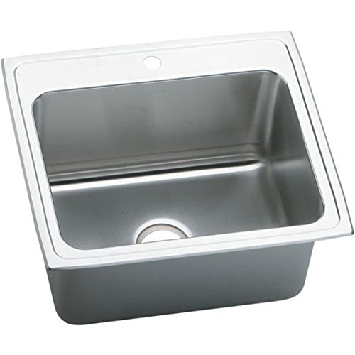 Elkay PLA2522121 1-Hole Pursuit Stainless Steel 25-Inch x 22-Inch Self Rimming Single Basin Utility Sink