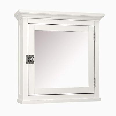 Elegant Home Fashions Madison Avenue Collection Mirrored Medicine Cabinet, White