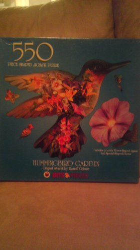 550 Piece shaped Jigsaw Puzzle~Hummingbird Garden