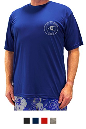 H2O Sport Tech Swim Shirt - Short Sleeve Royal 2XL #753C by H2O Sport Tech