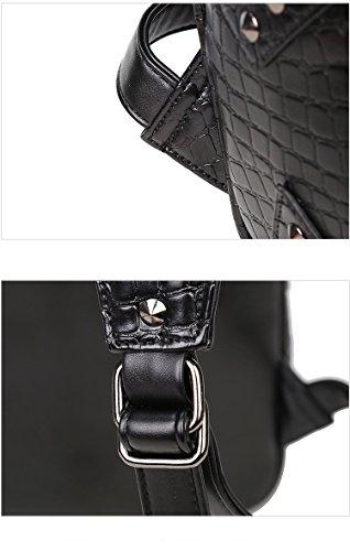 Bolsa de hombro doble 3D sharpei dog Head iPad mochila Negro