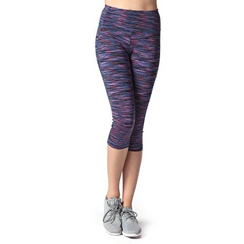 Lapasa Damen 3/4 Sport Leggings – Blickdicht, Dehnbar und Luftig, 3/4 Yoga Sporthose mit elastichem Gummiband, 12 Farben
