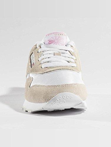 Blanco de para Reebok Mujer Deporte Zapatillas Nylon Cl xqt0vP