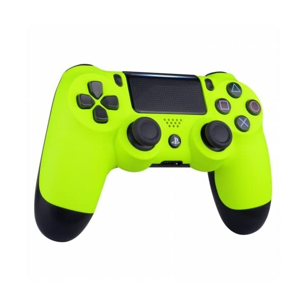 Neon Yellow Playstation 4 PS4 Dual Shock 4 Wireless Custom Controller 2