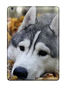 5074006K74722421 Tpu Case Cover For Ipad Air Strong Protect Case - Animal Wolf Design