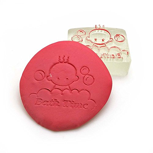 Shop Stamp (Baby bath time resin soap stamp Bebe handmade soap seal)