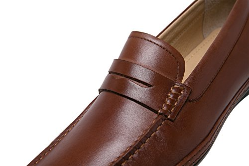 SHENBO AROW Genuine Leather VIP Men's Loafers Brown rrCxqg