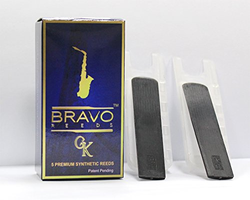 Bravo Gk Premium Synthetic Reeds for Eb Alto Sax: Sampler(2, 2.5, 3, 3.5, 4). $30, Designed in ()