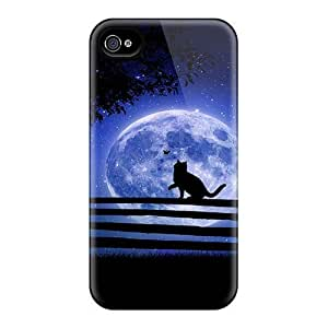 Fashion Cases For Iphone 6- Cat Walks Under The Moon Defender Cases Covers