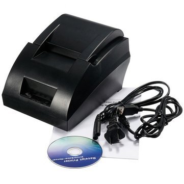 12V USB Mini 58mm POS ESC Thermal Dot Receipt Printer 384 Line with Roll Paper - Manual Tools Barcode Scanner & Thermal Printer - 1 x Thermal Printer