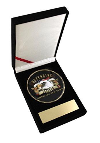 Operation New Dawn Defending Freedom 3.5 Challenge Coin Medallion in Velvet Display - Trays Casa Medallion