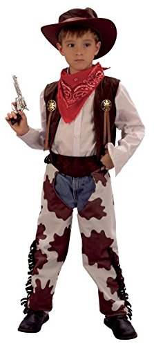Bristol Novelty CC657 Cowboy Cow Print Chaps Costume, White, Medium, Approx Age 5 - 7 Years, Cowboy (M).Cowprint Chaps]()