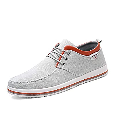 Maizun Mens Canvas Fashion Sneaker Causal Lace-Up Skateboarding Soft Non-Slip Comfortable Street Shoes