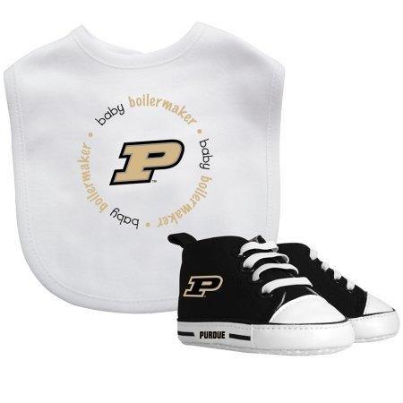 NCAA Purdue Boilermakers Bib & Prewalker Baby Gift Set by Baby Fanatic