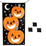 Hokic Halloween Pumpkin Bean Bag Toss Games with 3 Bean Bags Halloween Party Games for Kids Party Halloween Decorations