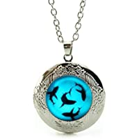 SunShine Day Shark Glowing Design Girls/Boys Chain Necklace with Pendant