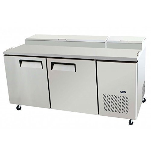 Atosa USA MPF8202 Stainless Steel Pizza Prep Table 67-Inch Two Door Refrigerator by Atosa