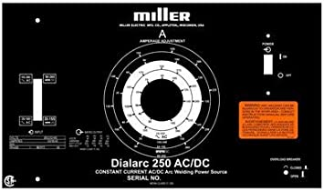 Miller Electric Welder Replacement Aluminum Control Plate For Dialarc 250 Amazon Com