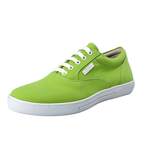 Versace Collection Uomo Verde Canvas & Leather Sneakers Moda Scarpe Us 9 It 42