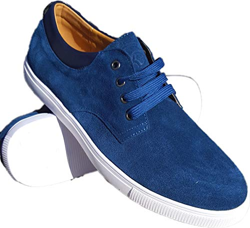 K i N G Z L E Y Men's Suede Casual Shoe (10, Navy Blue) from K i N G Z L E Y