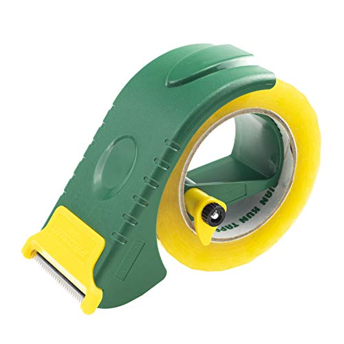 - Prosun 2 Inch Packing Tape Gun Dispenser, Width-Adjustable Box Sealer, Lightweight Ergonomic Industrial Heavy Duty Tape Cutter for Carton, Packaging and Box Sealing, Green
