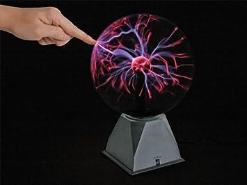 Lampe Boule Plasma Magique Eclairs 20cm 8 Fonction Controle Musique